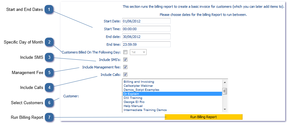 Topic: Run Billing Report (Generate Invoices)